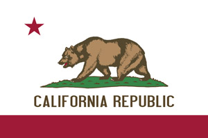 California flag representing court approved traffic school course